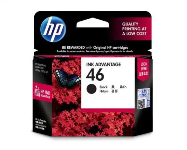 HP 46 Black Original Ink Advantage Cartridge CZ637AA